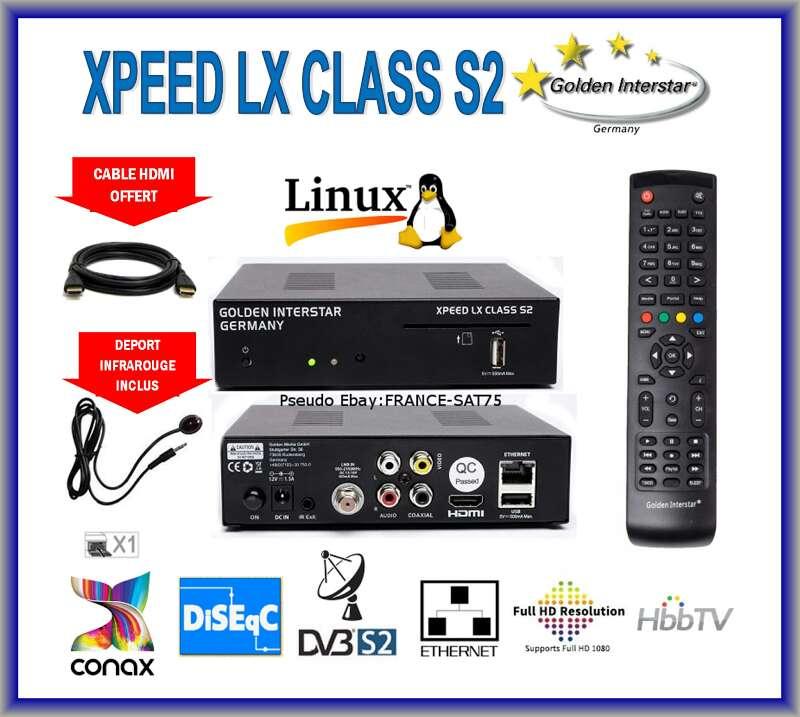 Imagen decodificador satélite XPEED LX CLASS S2 FUL HD NUEVO