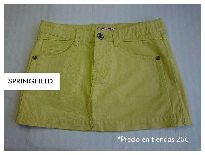 Imagen SPRINGFIELD Minifalda amarillo pastel