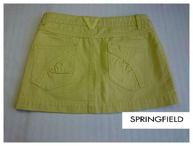 Imagen producto SPRINGFIELD Minifalda amarillo pastel  4