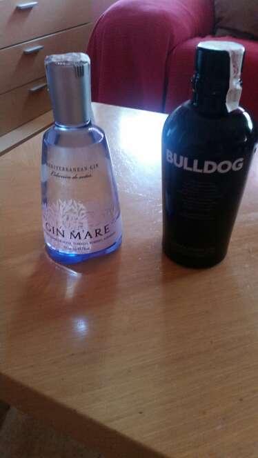 Imagen botellas ginebras sin usar
