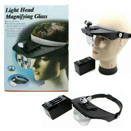 Imagen producto Lupa de trabajo gorro con luz 1