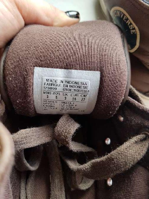 Imagen producto Converse de piel marrón reversible  4