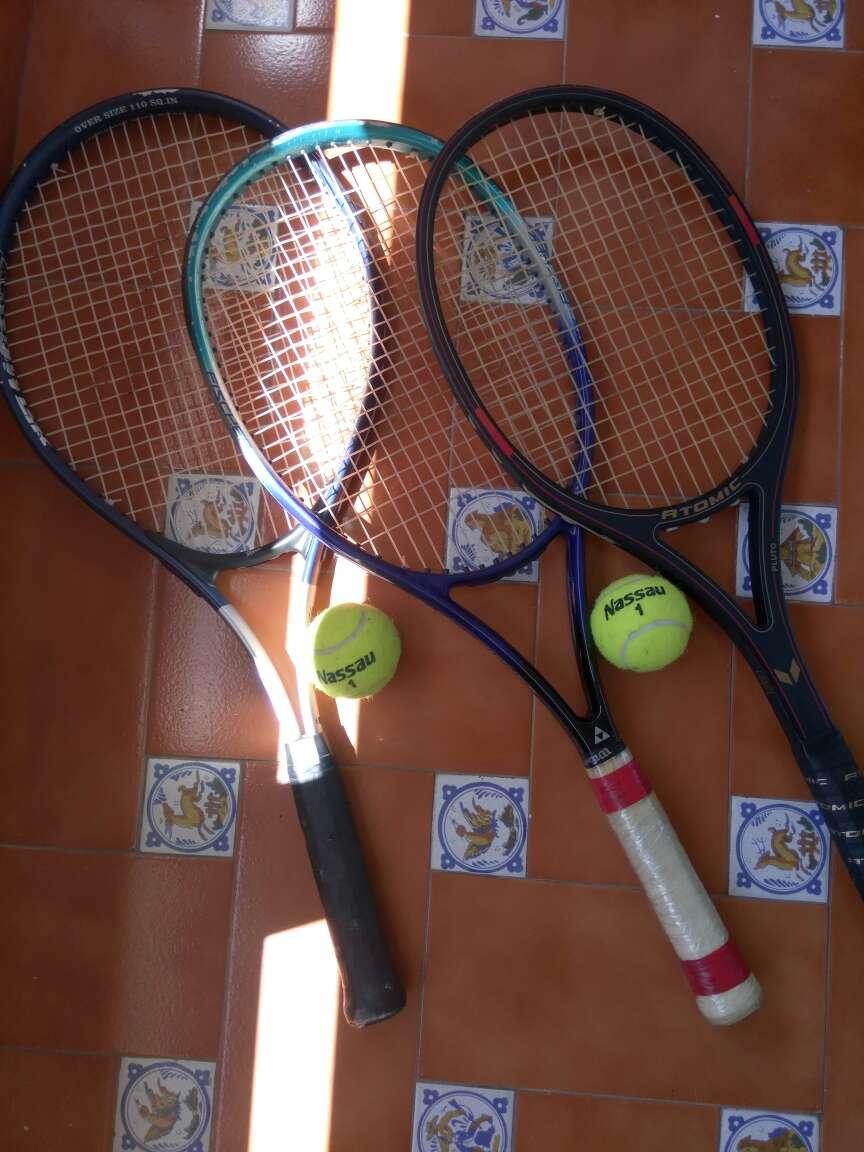 Imagen Raquetas con pelotas