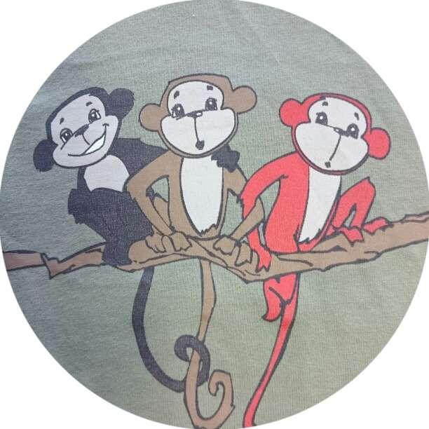 Imagen producto Camiseta monos y Pantalón caqui  2