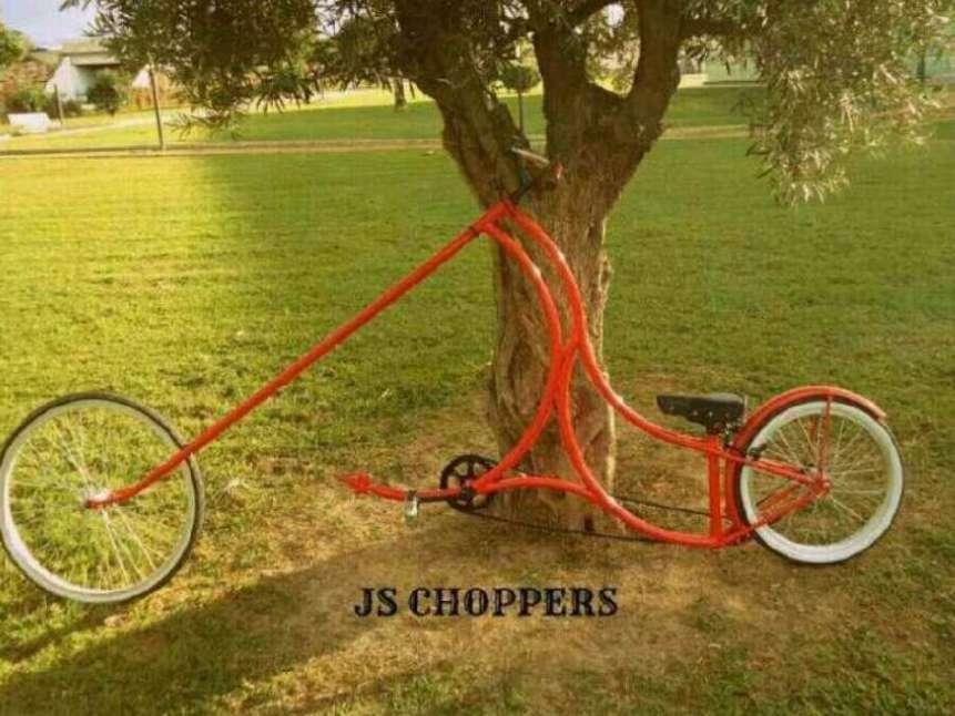 Imagen bicicleta custom chopper
