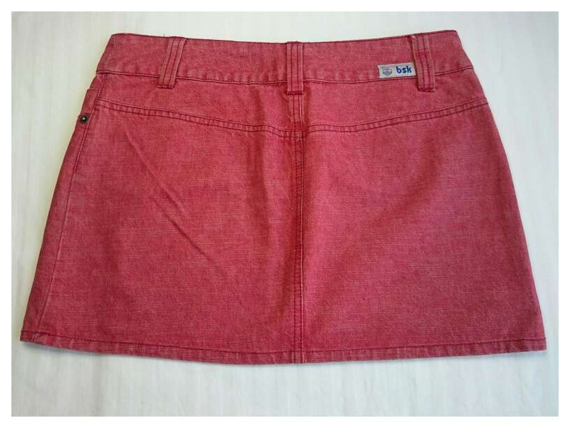 Imagen producto Minifalda roja vintage  3