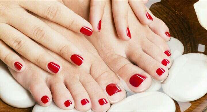 Imagen esmaltado pies y manos