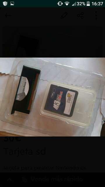 Imagen tarjeta SD Nintendo ds