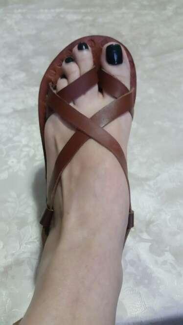 Imagen producto Nuevas! Sandalias artesanales en piel. 1