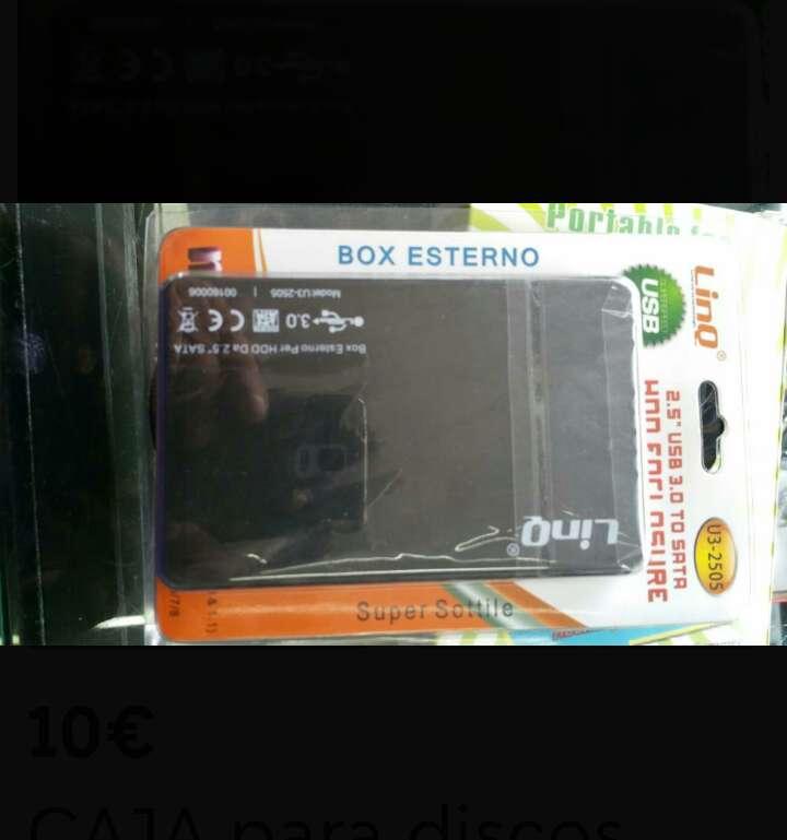 Imagen caja de disco duro externo