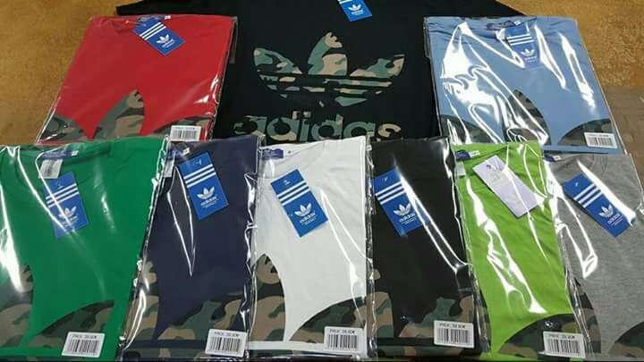 Imagen camisetas adidas nike y levis