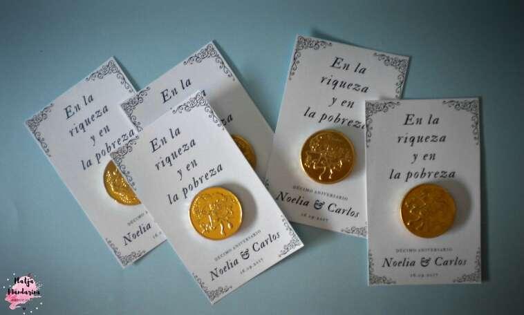Imagen Detalles de boda. Moneda de chocolate.