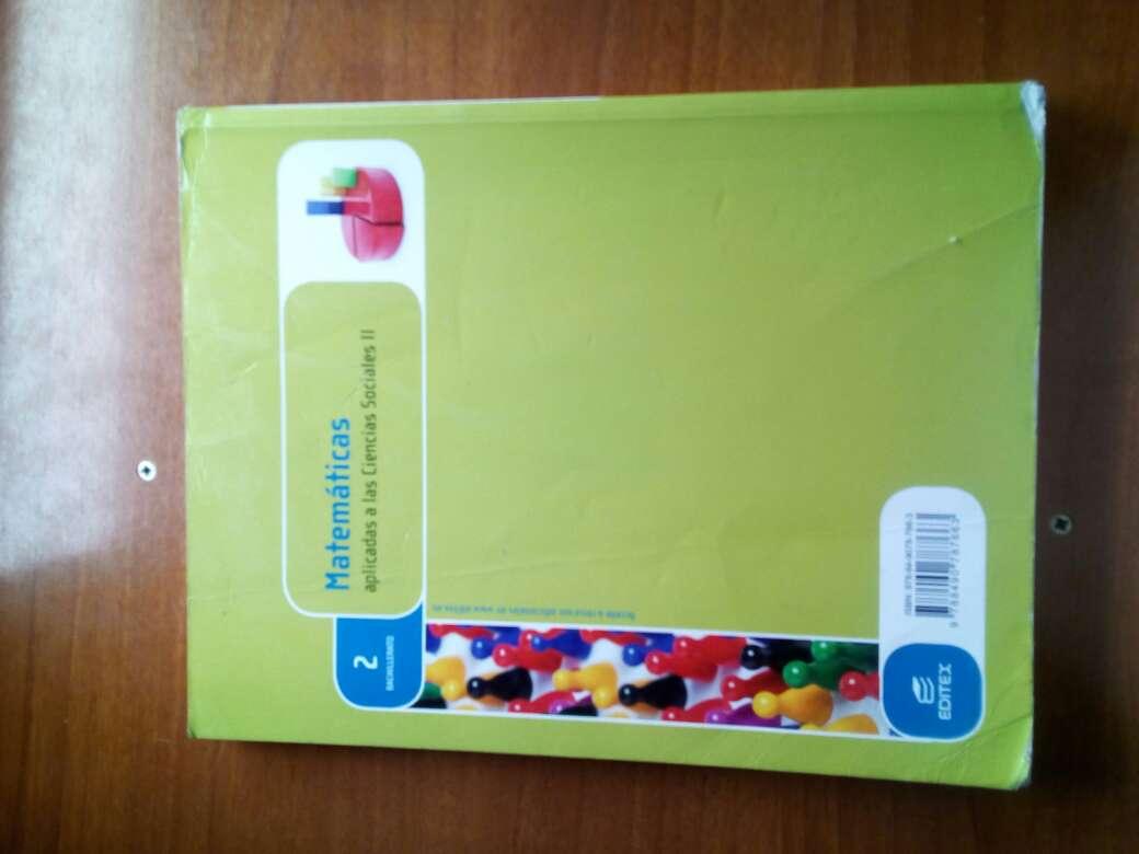 Imagen producto Libro matematicas de CCSS 2°bach Editex 2