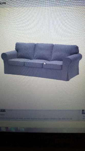 Imagen Urgente!!!Sofa 3plazas EKTORP con funda gris oscura