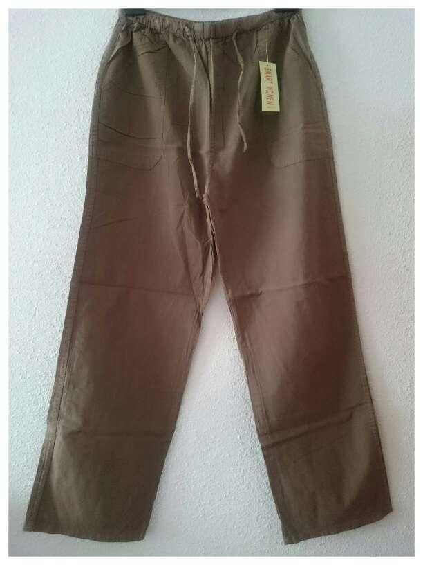 Imagen Nuevo Pantalón lino marrón