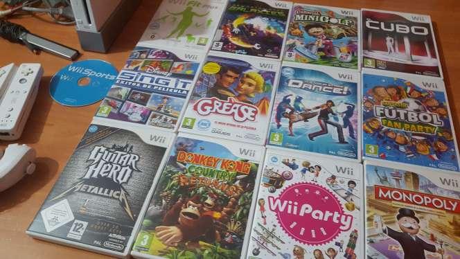 Imagen producto Wii blanca+ mandos+juegos 4