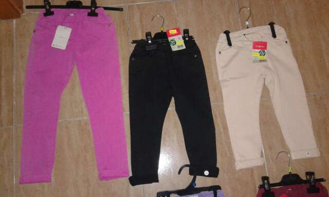 Imagen pantalones..otoño invierno de pitillo elásticos..tallas de 6 meses hasta 6 años...