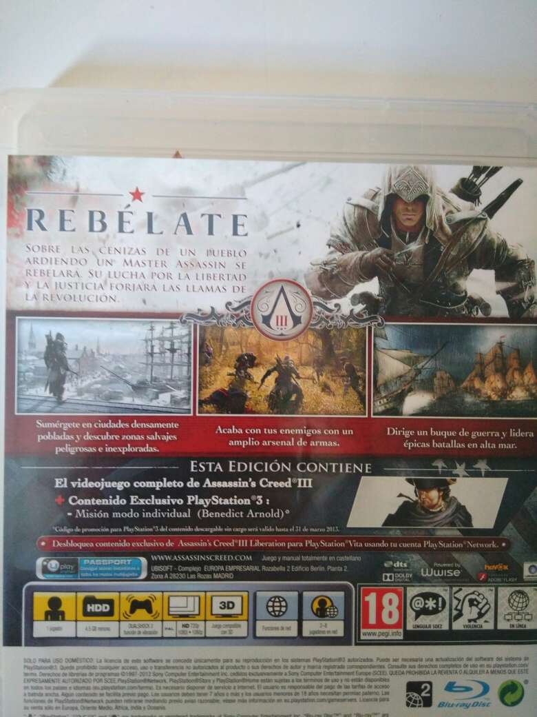 Imagen producto Assassin's Creed III PS3 2