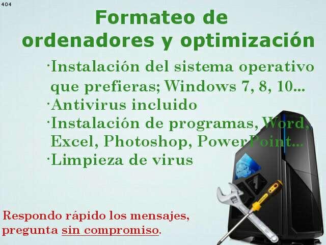 Imagen Formateo ordenadores