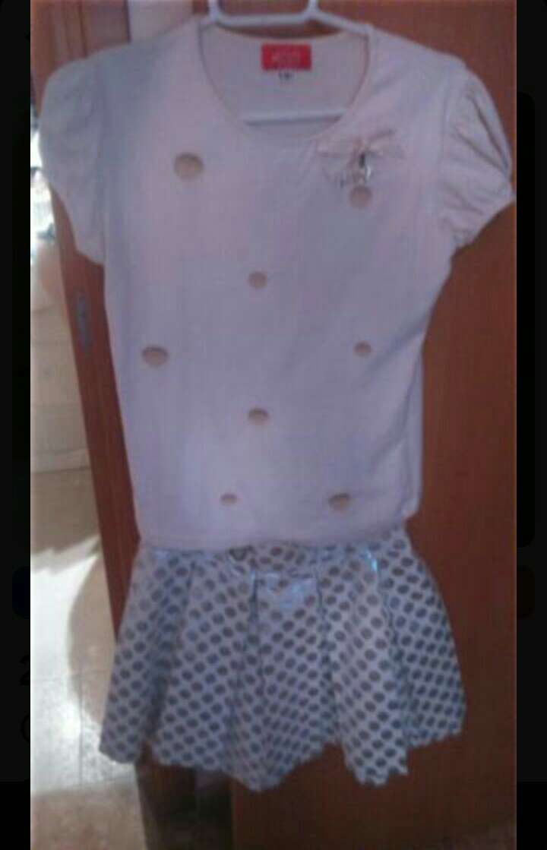 Imagen Conjunto niña camiseta+ falda