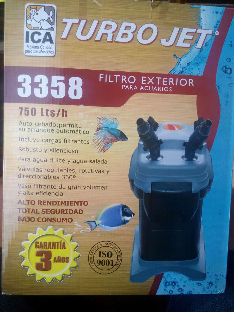 Imagen filtro exterior para acuarios