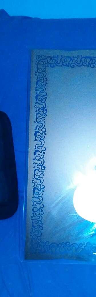 Imagen Grabado, Espejo 90x60cm.Marco de volutas orgánicas