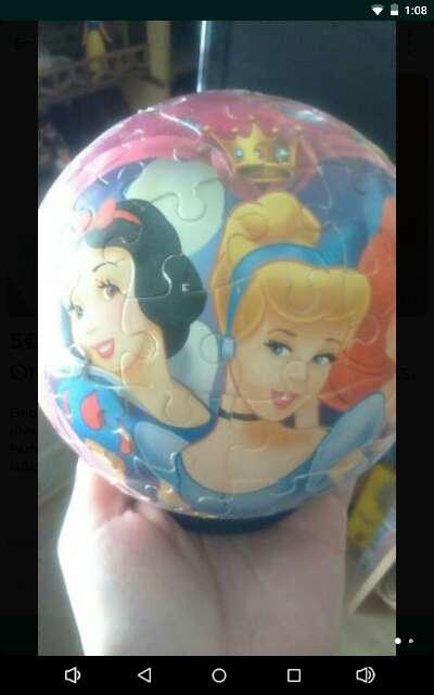 Imagen Puzzle bola de las princesas Disney.