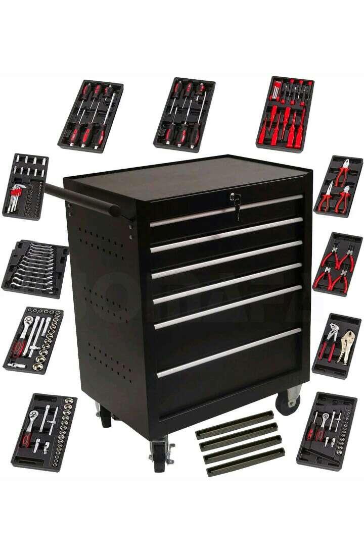 Imagen carro taller con módulos de herramientas