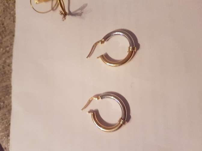 Imagen producto Pendientes aros de oro blanco y amarillo 18 kl 4