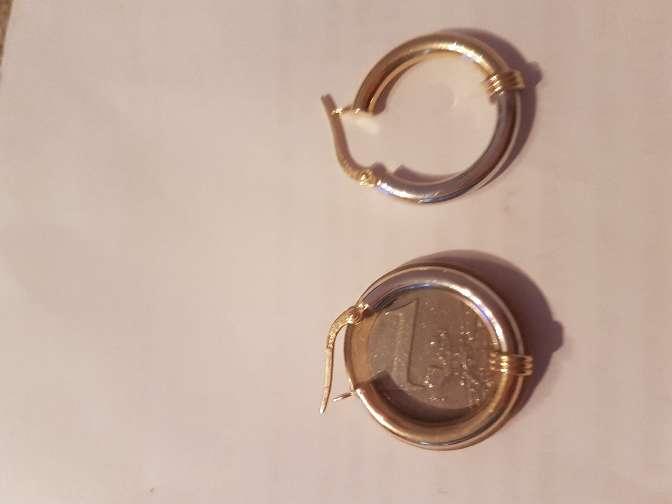 Imagen producto Pendientes aros de oro blanco y amarillo 18 kl 3