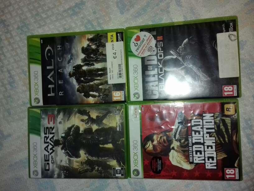 Imagen xbox 360 y 4 juegos