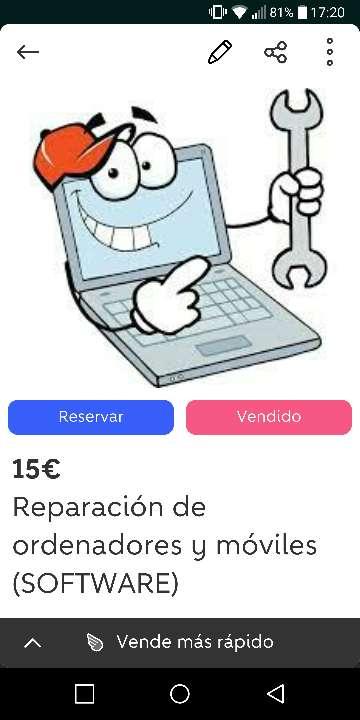 Imagen Reparación de ordenadores y móviles (SOFTWARE)