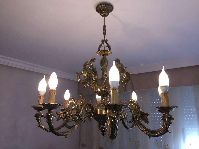 Imagen lamparas de bronce