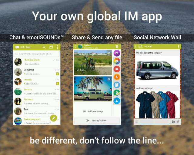Imagen producto Instant messaging Chat and sms Android app - Your own global IM 1