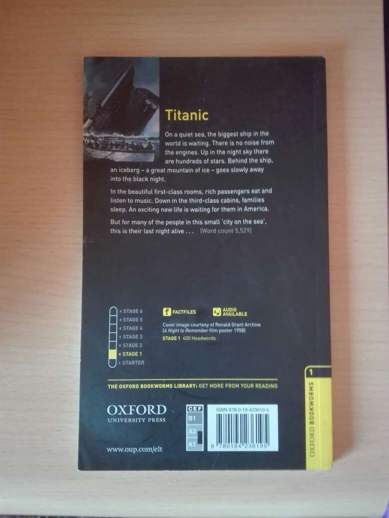 Imagen producto Libro Titanic en inglés 2