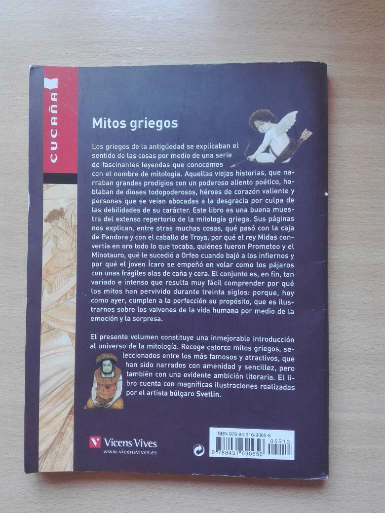 Imagen producto Libro Mitos griegos 2
