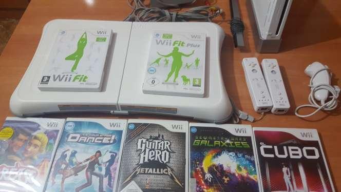 Imagen producto Wii blanca más juegos 1