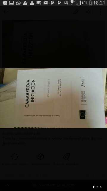 Imagen Libro para aprender el oficio camarero/a