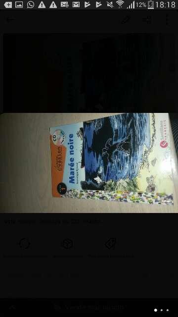 Imagen lectura de francés maree noire