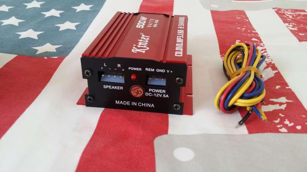 Imagen amplificador de 2 canales coche 500w