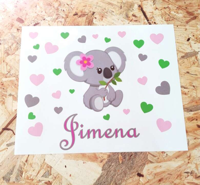 Imagen Láminas con nombres bebés recién nacidos