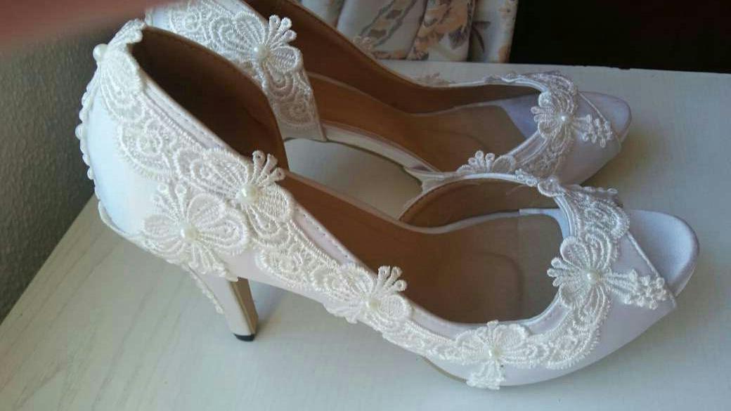 Imagen producto Zapatos de novia nuevos 2