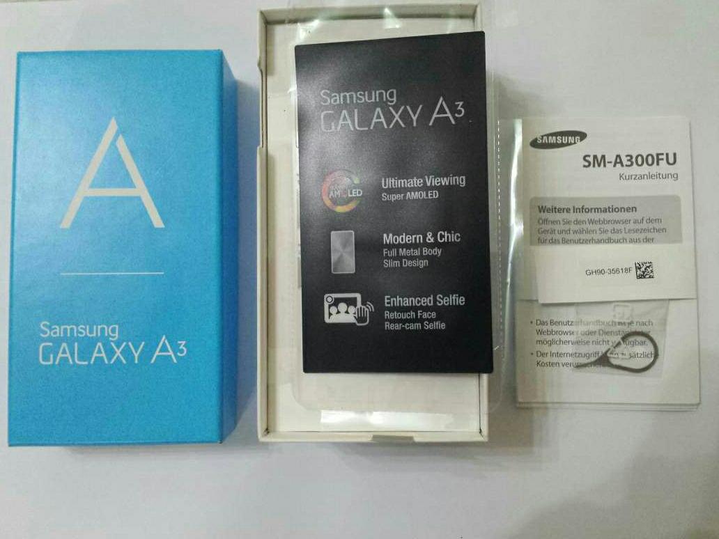 Imagen producto Caja vacia de Samsung A3 de 16gb  4