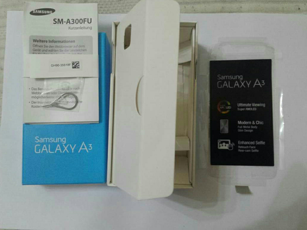 Imagen producto Caja vacia de Samsung A3 de 16gb  3