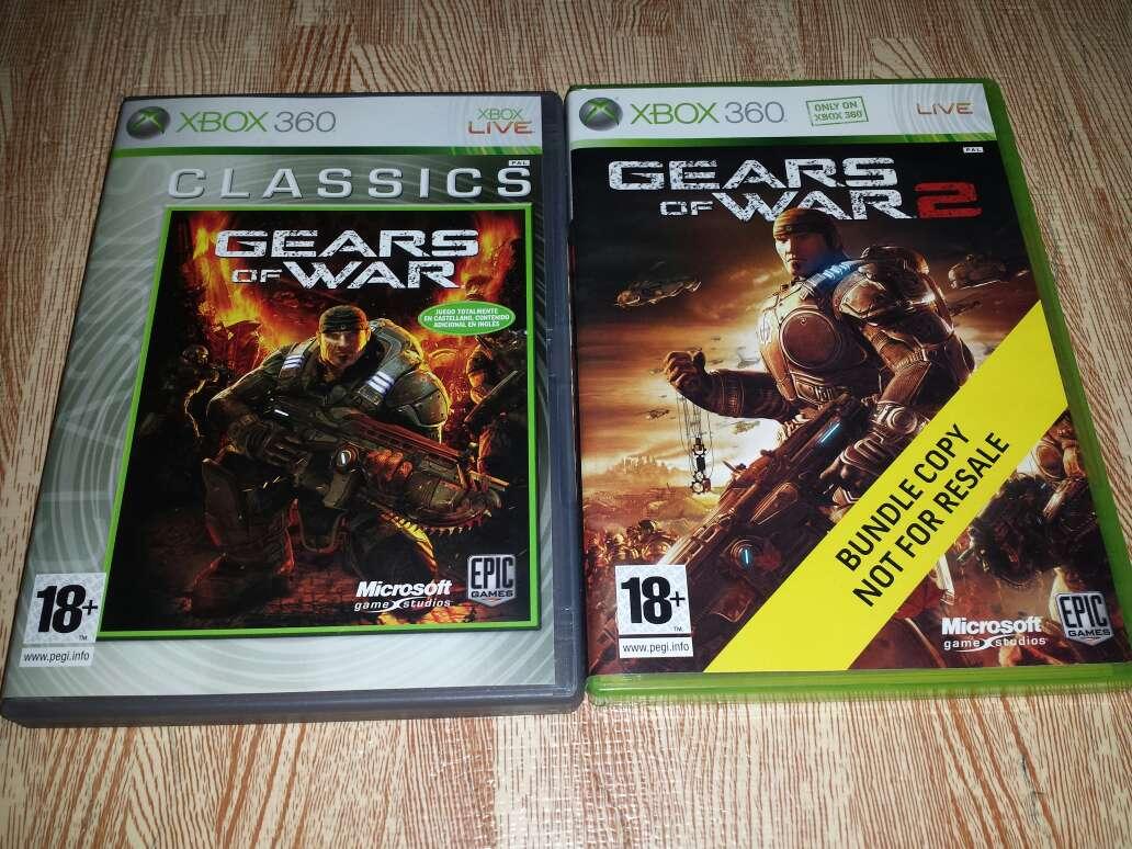 Imagen Pack Juegos Gears of War 1 y 2 Xbox 360