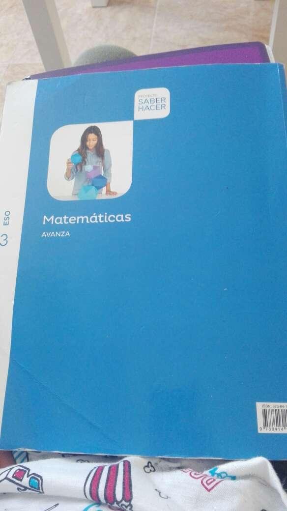 Imagen libro de matemáticas 3 de la eso