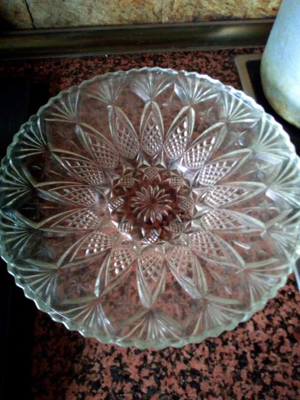 Imagen producto Frutero cristal tallado 2