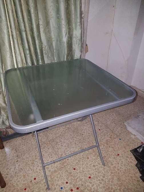 Imagen mesa de exterior plegable y 4 sillas