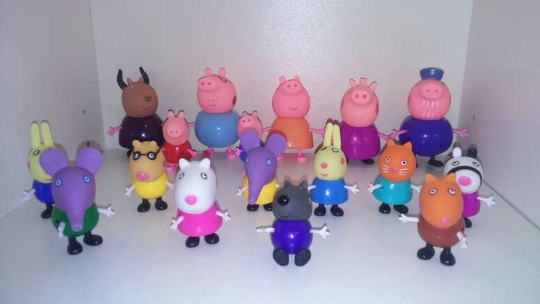 Imagen set de 17 figuras peppa pig 5-8 cm