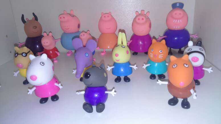 Imagen producto Set de 17 figuras peppa pig 5-8 cm 3